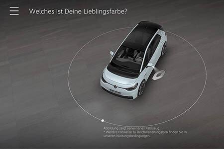 Weiterentwickelte AR App mit Volkswagen ID.3