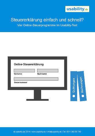 Steuersoftware - Usability Studie