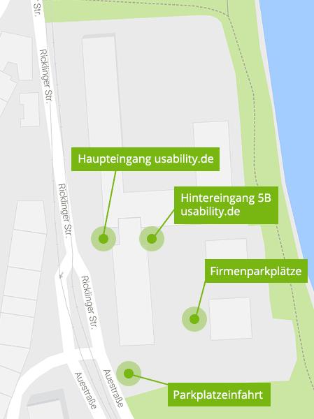 Anfahrtsbeschreibung usability.de
