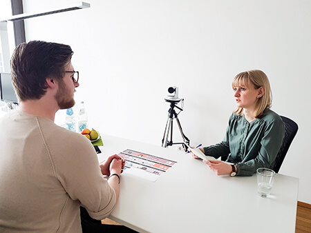 Interview mit einem Patienten