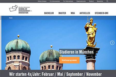 Der alte Header der Steinbeis SMI Website