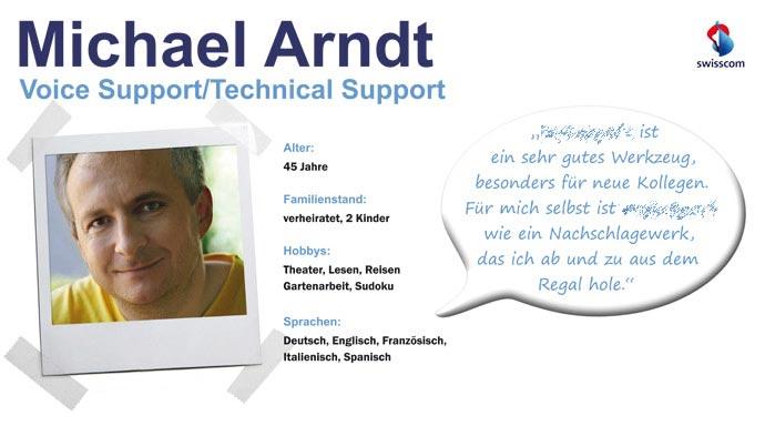 Persona Poster für einen Support Mitarbeiter