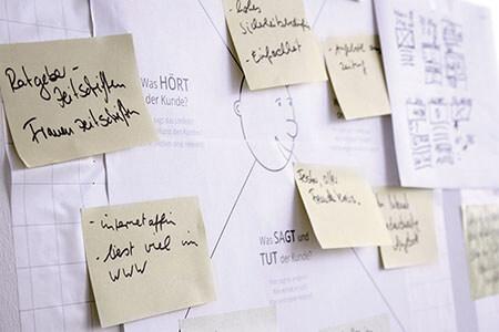 Workshop mit Stakeholdern: Anforderungserhebung und Ideenentwicklung.