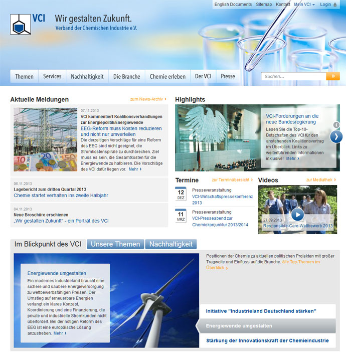 Neue Website vci.de
