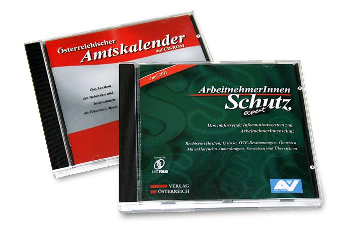 CD-Roms von zwei Verlagssystemen