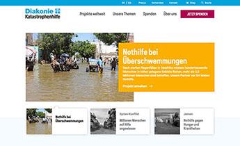 Diakonie Katastrophenhilfe: Website Relaunch