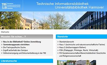 TIB/UB: Benutzerzentriertes Design Website