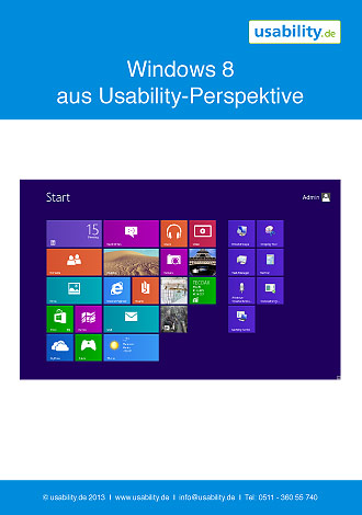 Windows 8 - Usability Studie