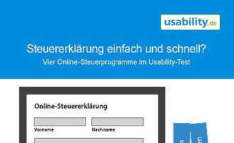 Online-Steuerprogramme im Usability-Test
