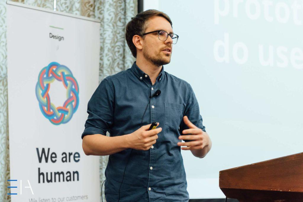 Johannes Baeck at EuroIA 2018 (Foto: Peter Vermaercke)